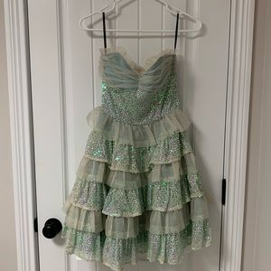 Vintage sequin Betsey Johnson sweetheart dress